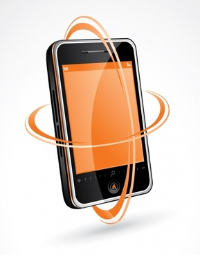 smartphone advertising banner modern 3d dynamic design