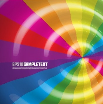 dynamic rainbow backgrounds vector