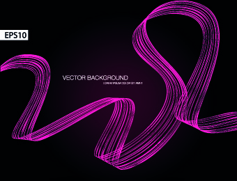 dynamic ribbon vector background set