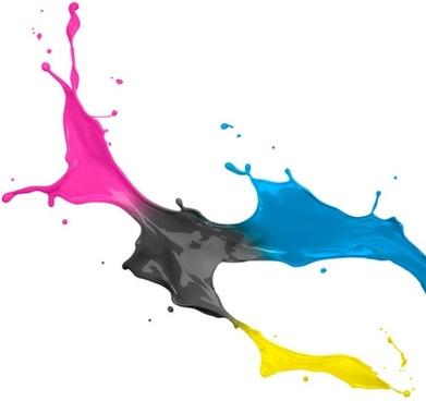 dynamic splash paint 02 hd pictures