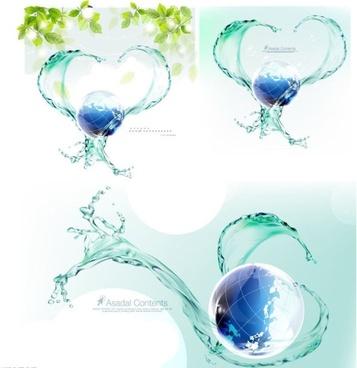 dynamic spray around the earth vector