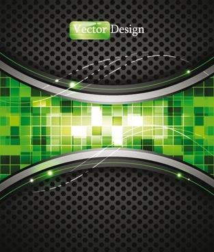 dynamic technology background 02 vector