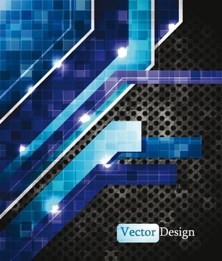 dynamic technology background 05 vector