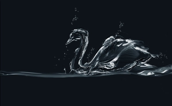 dynamic the pictographic animal spray swan