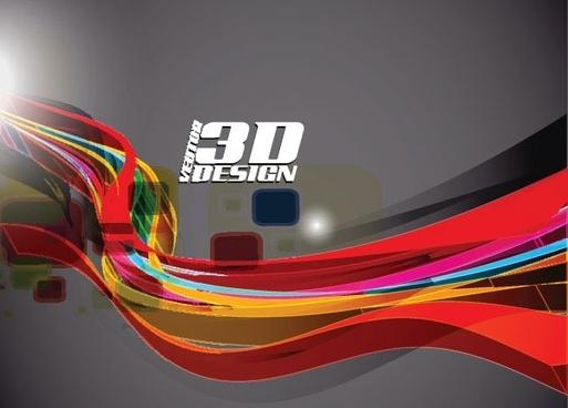 dynamic threedimensional elements 05 vector