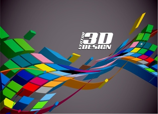 technology background colorful dynamic 3d shapes decor