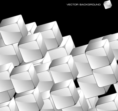 cubic background modern black white 3d sketch