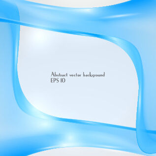 dynamic transparent blue ribbon vector background