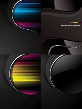 dynamic trend black background vector