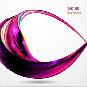 dynamic wavy gloss background vector