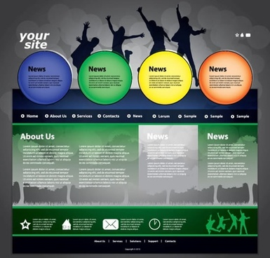 dynamic web template vector