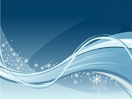 dynamic winter vector background