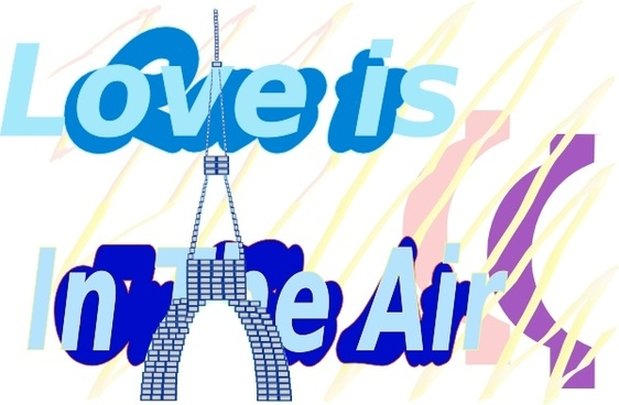 E Card Love Is In The Air La Tour Eiffel Tower Aug clip art
