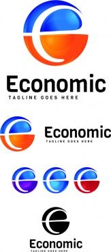 e letter logo design template