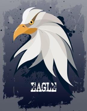 eagle background retro grunge style