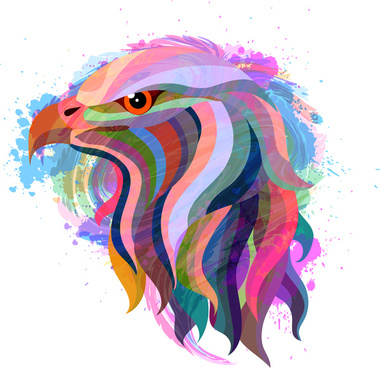 eagle head abstract