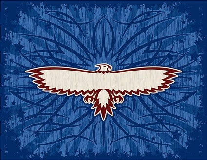 eagle totem and beautiful vector background