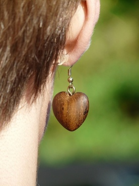 earring wood earring wood jewelry