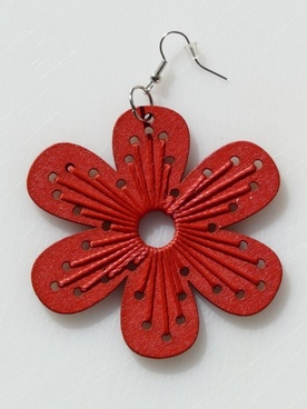 earrings jewellery red