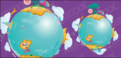 Earth leisure vector illustration material