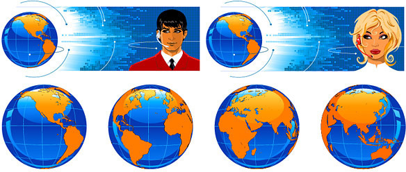 earth science and technology service vector