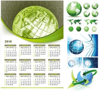 earth theme vector