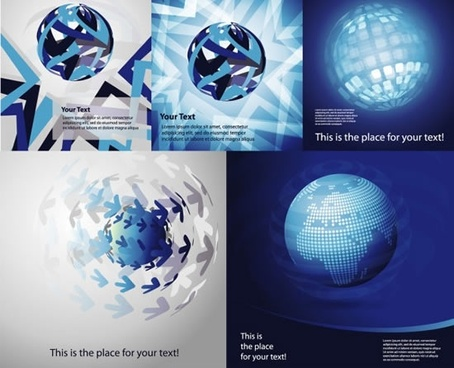globe backgrounds modern dynamic sparkling decor