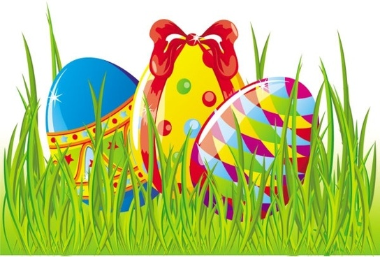 easter cartoon elements 01 vector