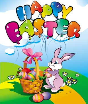 easter cartoon elements 05 vector