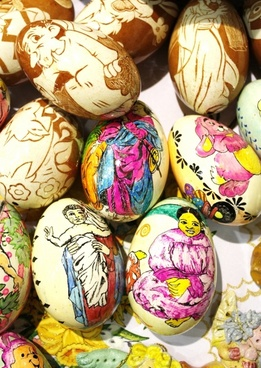 easter easter eggs colored