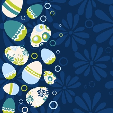 easter egg illustration background 03 vector