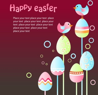 easter egg illustration background 05 vector