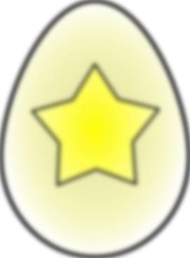 Easter Egg Star clip art
