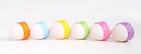 easter eggs in line