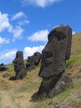 easter island head mystical