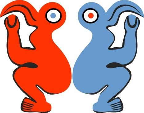 Eastern Island Bird Man clip art