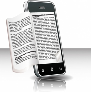 Ebook in smart phone