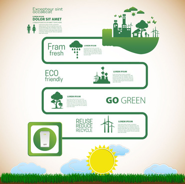eco banner design with infographic style