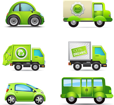 eco bio green vehicle set