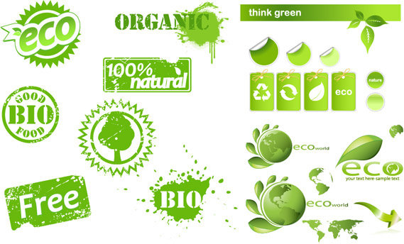 eco creative icons vector