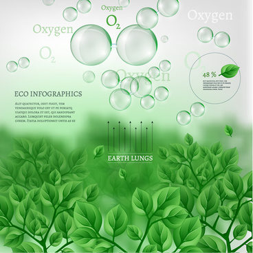 eco data infographic vector template