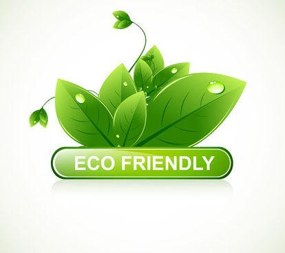 eco design elements vector cards