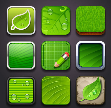 eco elements icon vector