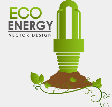 eco energy vector design template