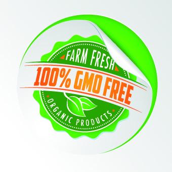 eco food labels vector set