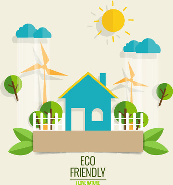 eco friendly love nature vector template