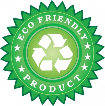 eco friendly product sticker