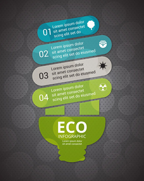 eco infographic design on bokeh background