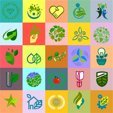 eco life icons isolated with symbols