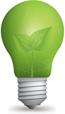eco light bulb vector graphic